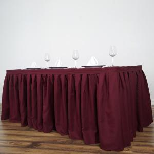 17FT Pleated Polyester Table Skirt