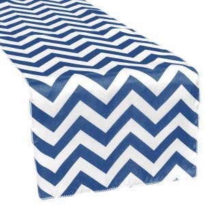 Chevron Satin Table Runner