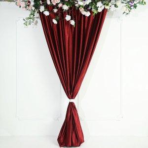 8Ft H x 8Ft W Premium Velvet Backdrop Curtain