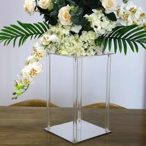 16″ Clear Acrylic Flower Stand With Mirror Base