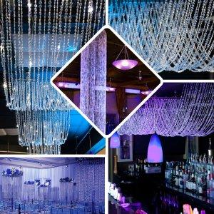 15FT Long Crystal Beaded Ceiling Drape