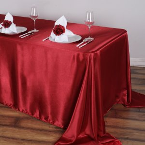 90″x156″ Satin Rectangular Tablecloth