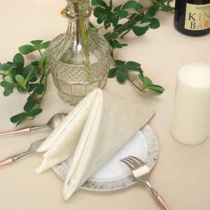 Premium Seamless Velvet Linen Napkins