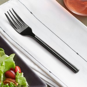 Acopa Phoenix Black Stainless Steel Forged Salad Fork