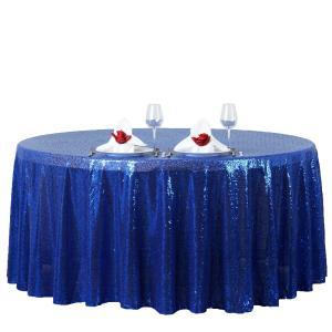 120″ Premium Sequin Round Tablecloth