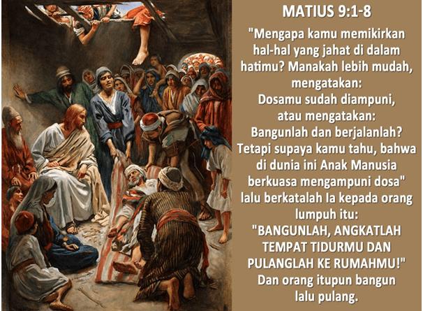 Bacaan Injil tanggal 02 Juli 2020