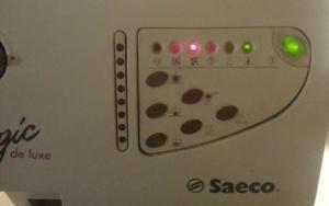 Saeco SUP012 Magic de Luxe  3 Lämpchen blinken wie