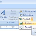 Vstavljanje pdf v wordov dokument