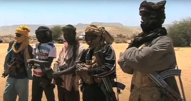 Capture d'écran de la milice pro-gouvernementale connue sous le nom de Janjaweed au Darfour, 6 mars 2013, via Voice of America, domaine public.