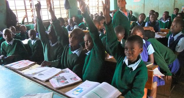 École primaire de Kibera, Nairobi, Kenya, 18 septembre 2012. Photo via ARC / Flickr, sous licence CC BY 2.0.