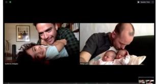 Une photo de Phillip Lühl (à droite) et de son mari Guillermo Delgado avec leur famille. Photo tirée de leur pétition avec permission.