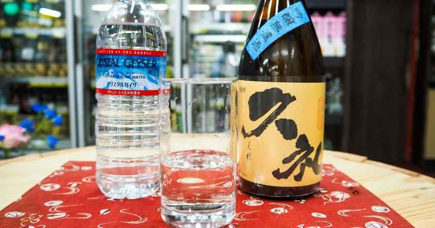 度数を抑える 『水×日本酒』