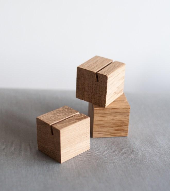 Platzkartenhalter Würfel aus Holz