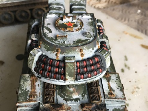 Rear View showing engine deck and turret top weathering