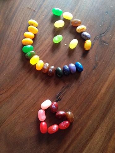 Yup, jellybeans make us happy.