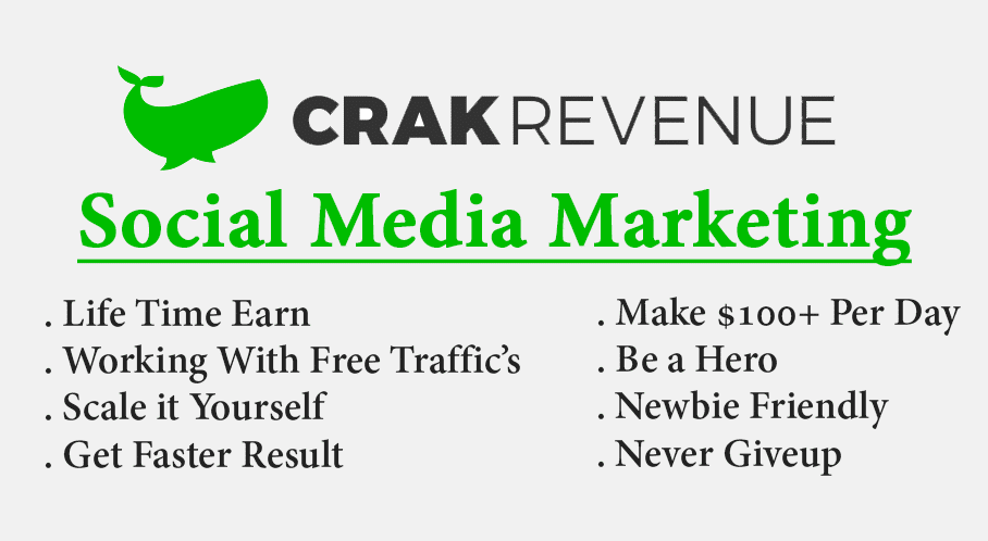Trick to Earn $100 daily with Crakrevenue through Social Media Marketing