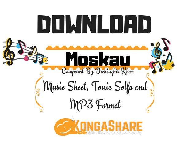 Download Moskau Music Sheet by Dschinghis Khan in PDF