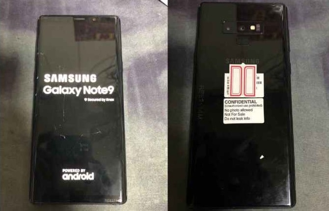 Samsung-galaxy Note 9 Leaked Render Exhibits New Straight