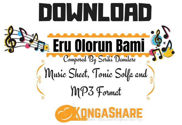 Download Eru olorun bami music sheet