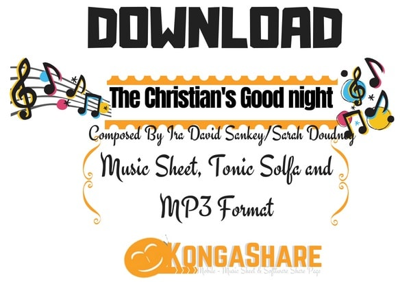 Download The Christian's Good night Music Sheet by Ira David Sankey