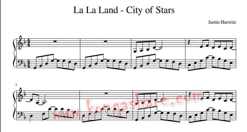 Download La La Land City Of Stars Sheet Music In Pdf