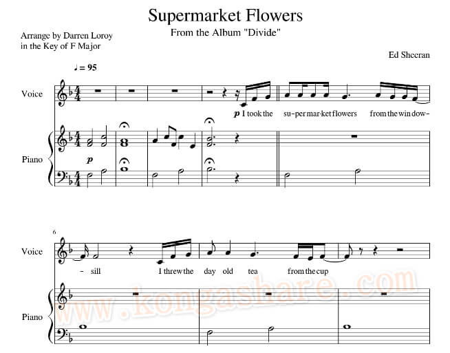Download Supermarket Flowers Sheet Music with Lyrics_kongashare.com_mmn