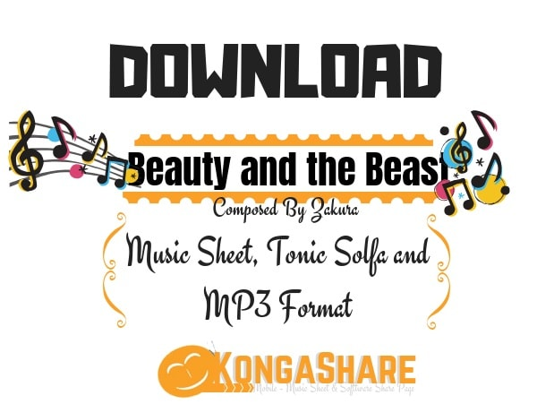 Download Beauty and the Beast Sheet Music kongashare.com..-min