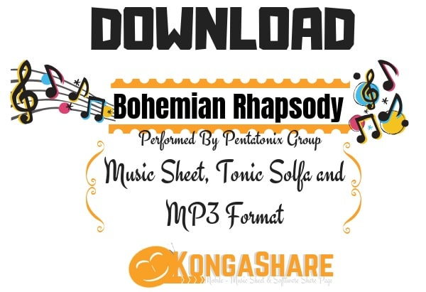 Download Bohemian Rhapsody Lyrics – Pentatonix Sheet Music