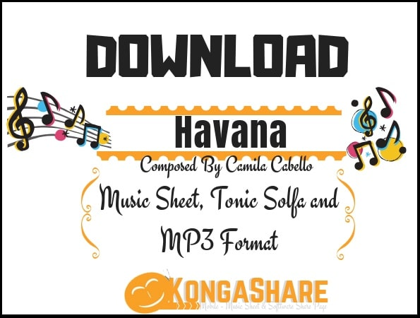 Havana sheet music for Piano - Download free in PDF or MP3