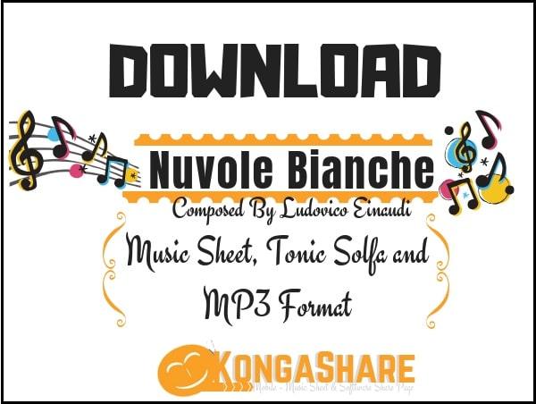 Nuvole Bianche - Ludovico Einaudi sheet music