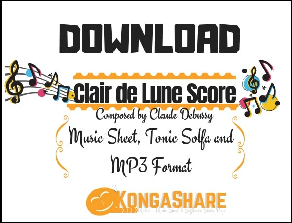 download clair de lune sheet music by claude debussy in PDF and MP3_ kongashare.com_m