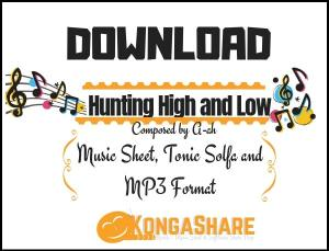 Download hunting high and low sheet music (a-ha music score) in PDF and MP3