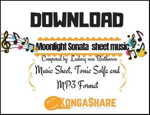 Moonlight Sonata Piano sheet music (Beethoven -1st Movement)