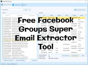 Facebook Groups Email Extractor