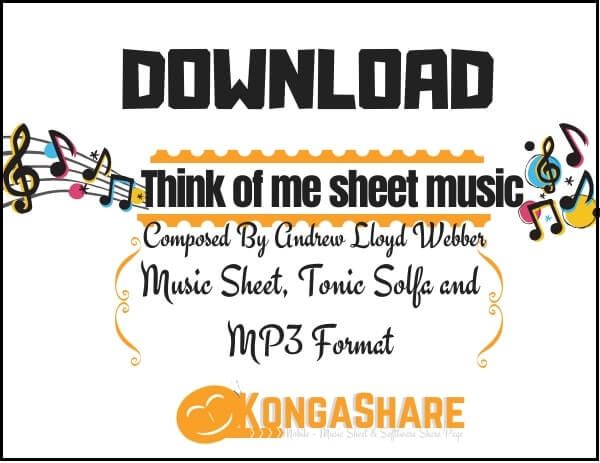 Download Think of me sheet music by Andrew Lloyd Webber