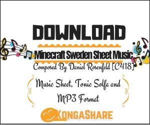 "Minecraft Sweden sheet music ""Music score"" for Piano in PDF - Daniel Rosenfeld"