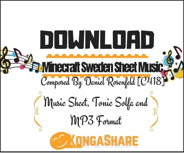 "Minecraft Sweden sheet music ""Music score"" for Piano in PDF - Daniel Rosenfeld"
