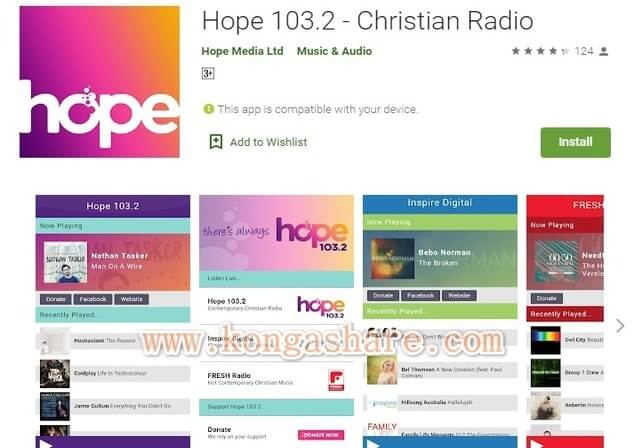 Free Christian Music Apps on Google Play in 2020 - Hope 103.2 app Picture_kongashare.com_mmm