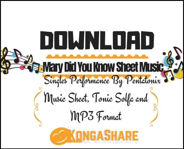 Download Mary Did You Know sheet music_Pentatonix _kongashare.com_m