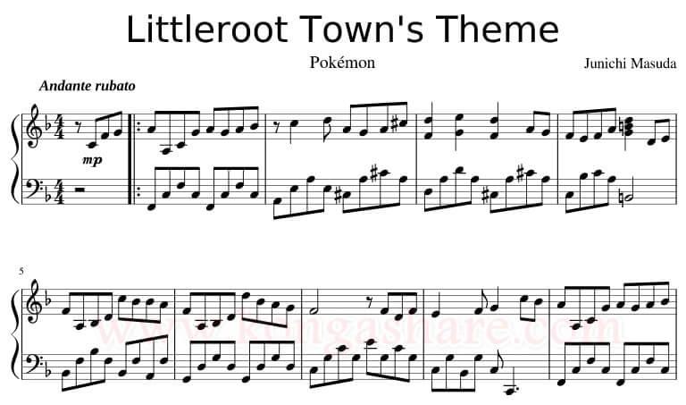download Littleroot Town _kongashare.com_score-m