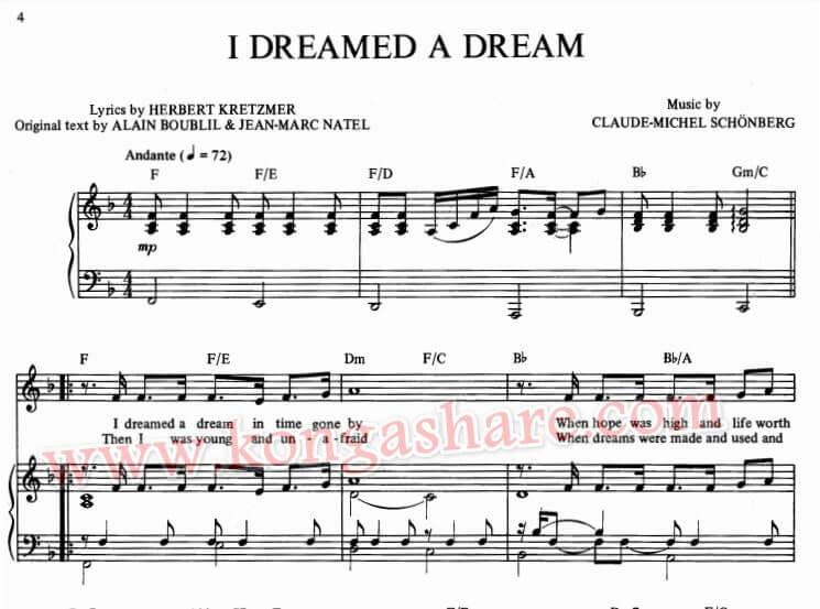 I dreamed a dream sheet music_kongashare.com_m