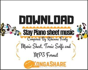 Stay Rihanna Piano sheet music_kongashare