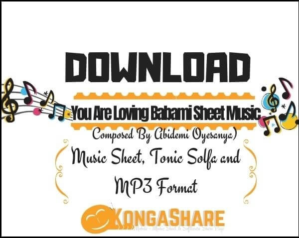 Download You Are Loving Babami Sheet Music_kongashare.com_m