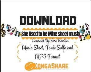 She Used to be Mine sheet music_kongashare.com_mi