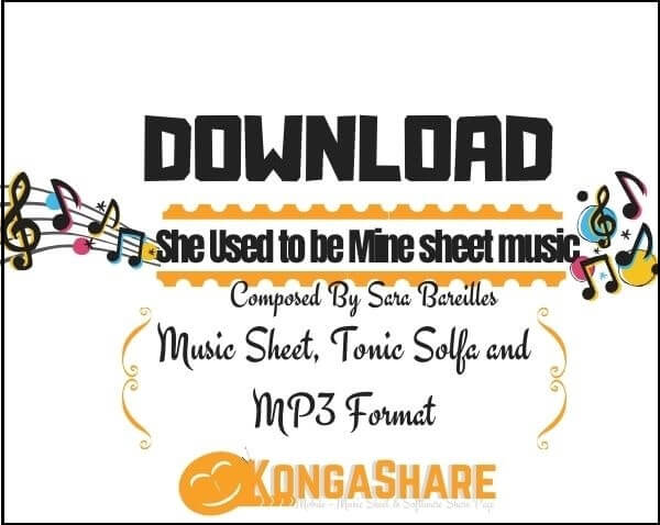 She Used to be Mine sheet music_kongashare.com_mi