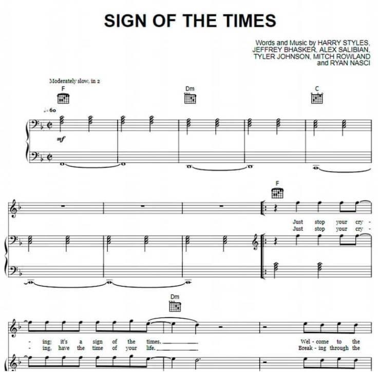 Sign Of The Times Piano sheet music_kongashare.com_mv
