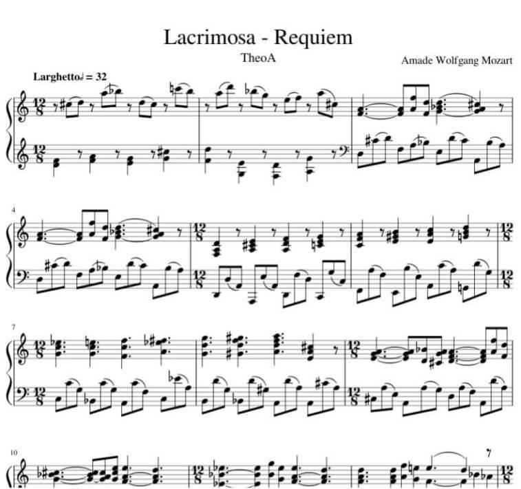Requiem Lacrimosa piano Sheet music_kongashare.com_ms