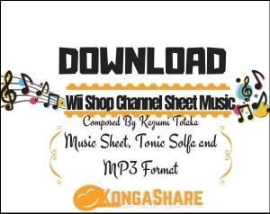 Wii Shop Channel Piano Sheet Music pdf midi_kongashare.com_mb