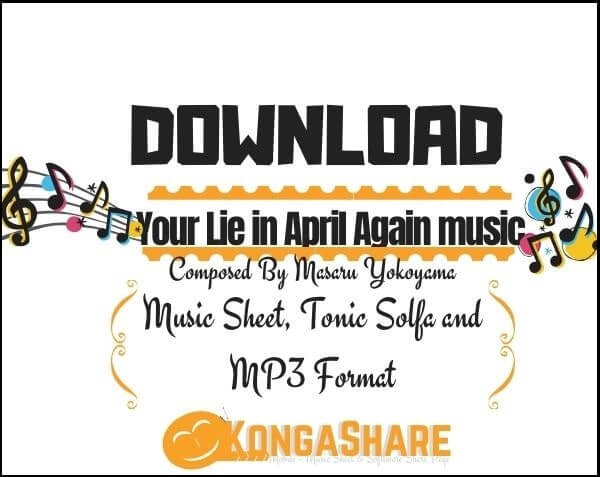 Download Your Lie in April Again sheet music in PDF & MIDI