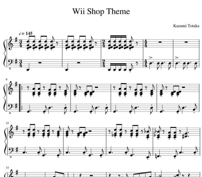 wii shop channel piano sheet music_kongashare.com_nn